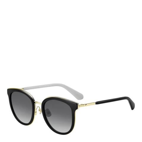 Kate Spade Black Adayna Tea Cup Sunglasses