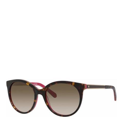 Kate Spade Brown Pink Amaya Round Sunglasses