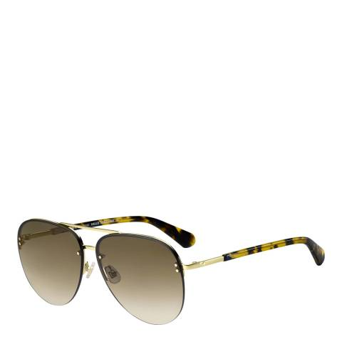 Kate Spade Gold Jakayla Aviator Sunglasses