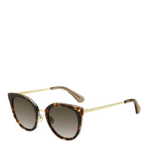 Kate Spade Tortoiseshell Jazzlyn Cat Eye Sunglasses