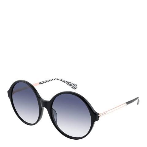 Kate Spade Black Wren Round Sunglasses