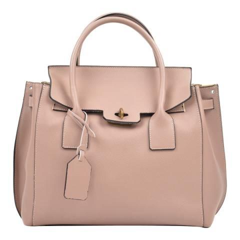 Luisa Vannini Pink Leather Top Handle Bag