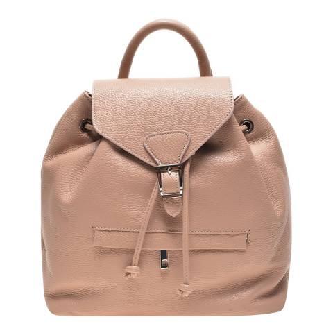 Carla Ferreri Pink Leather Backpack