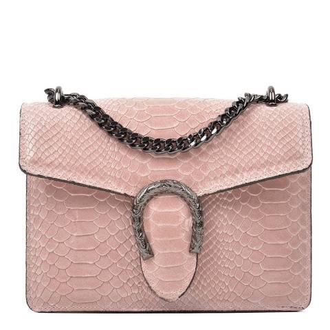 Renata Corsi Pink Leather Shoulder/Crossbody Bag
