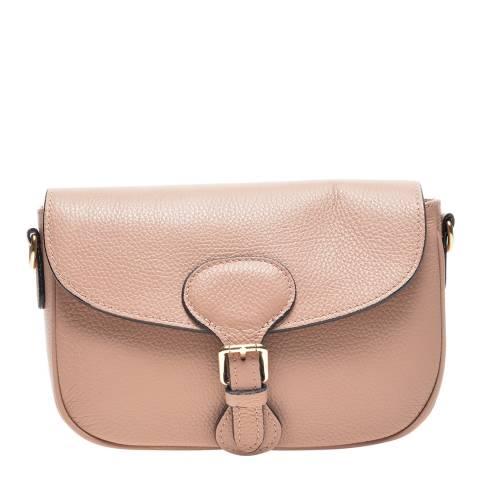 Carla Ferreri Pink Leather Crossbody Bag