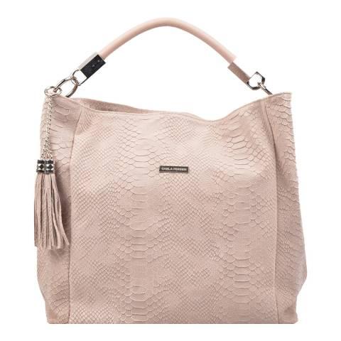 Carla Ferreri Pink Leather Shoulder Bag