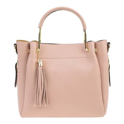 Carla Ferreri Pink Leather Top Handle Bag