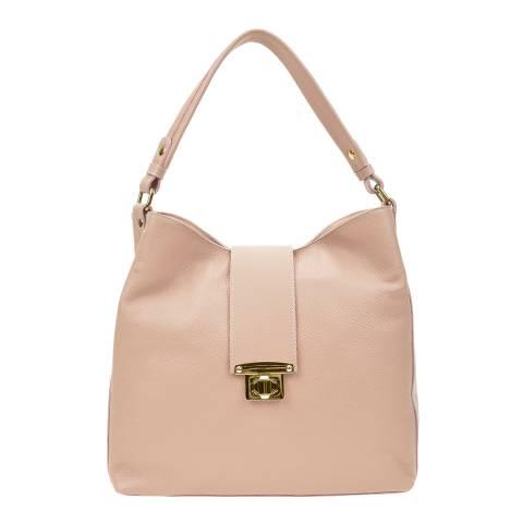 Roberta M Pink Leather Shoulder Bag