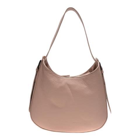 Luisa Vannini Pink Leather Shoulder Bag