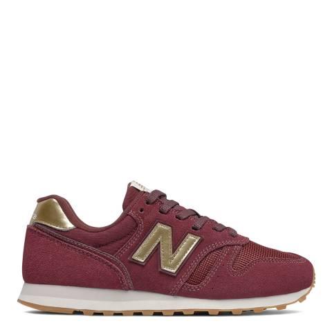 New Balance Burgundy 373 Trainers