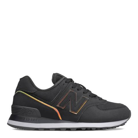 New Balance Black and Gold 574 Trainers