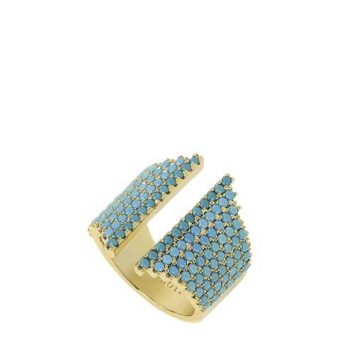 nOir Gold Turquoise Open Ring