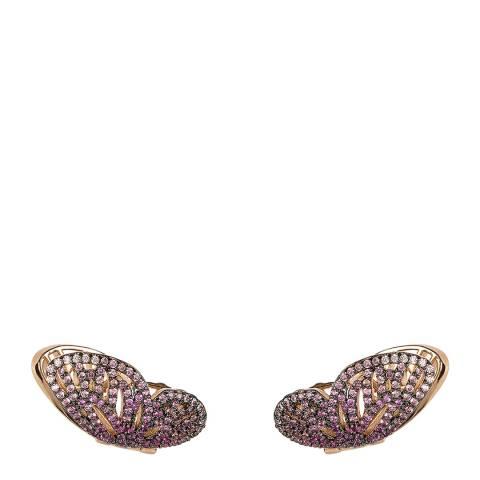 nOir Rose Gold Dazzling Wings Earrings