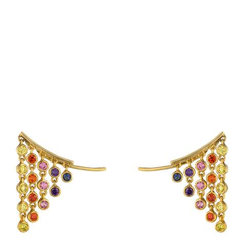 nOir Gold Multi San Juan Creeper Earrings