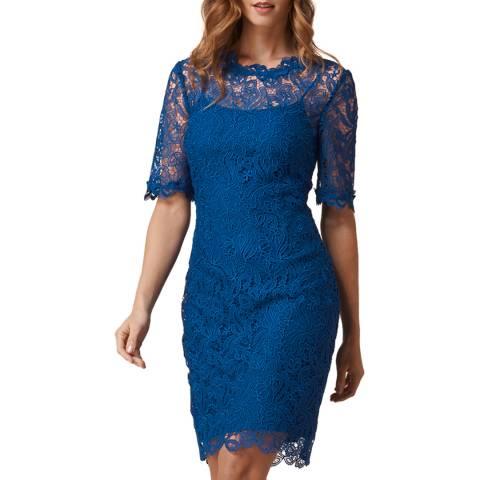 L K Bennett Blue Sasha Lace Dress