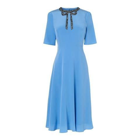 L K Bennett Blue Pink Carey Dress