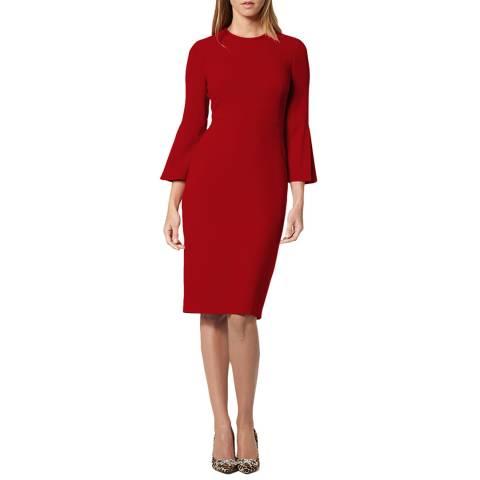 L K Bennett Red Doris Dress