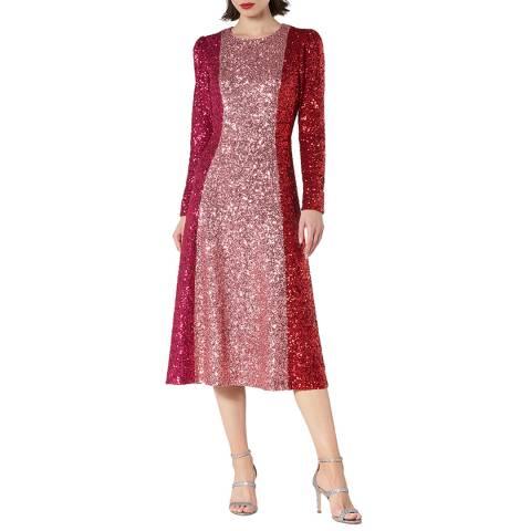 L K Bennett Red/Pink Fitzgeral Dress