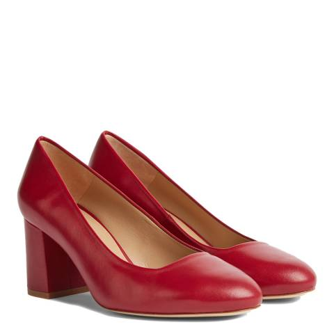 Hobbs London Red Lucy Suede Court Shoes