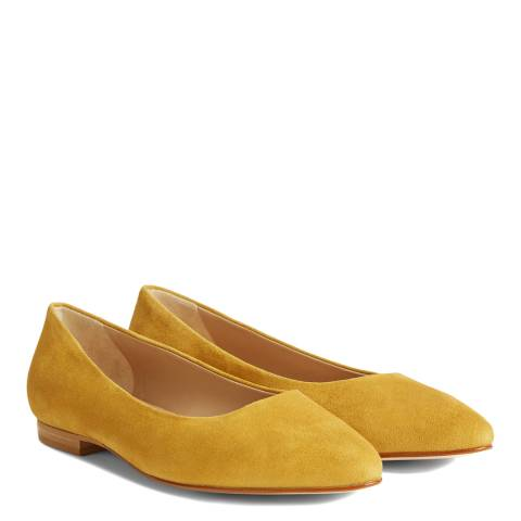 Hobbs London Yellow Serena Suede Flat Shoes