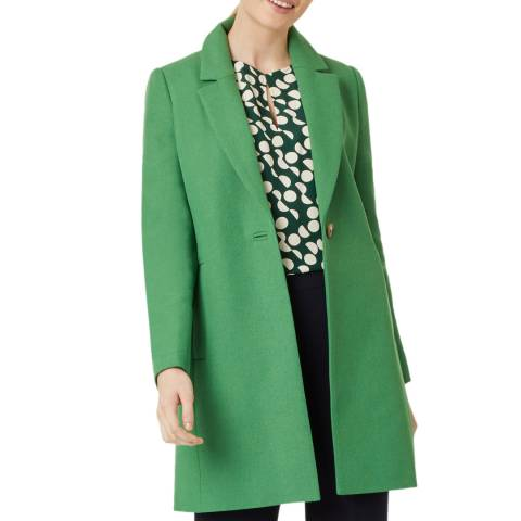 Hobbs London Green Camellia Wool Blend Coat