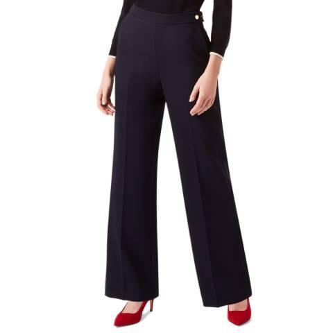 Hobbs London Navy Kendall Wool Blend Trousers