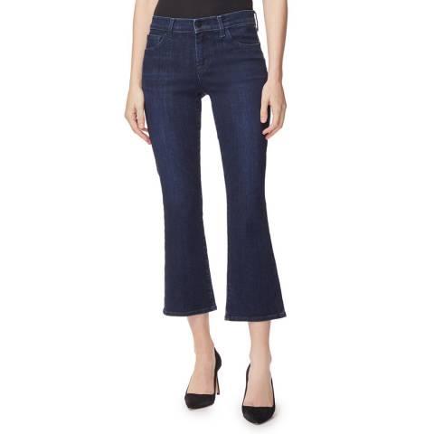 J Brand Indigo Selena Mid Rise Crop Jeans
