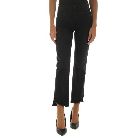 J Brand Black Selena Mid Rise Crop Jeans