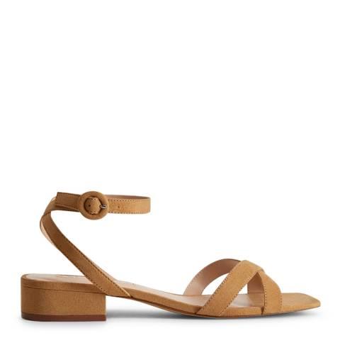 Mango Medium Brown Lace Up Heel Sandals
