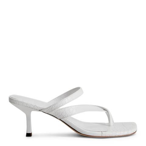 Mango White Strappy Heeled Sandals