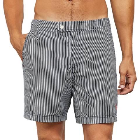 Ted Baker Navy Dingy Formal Stripe Swim Short