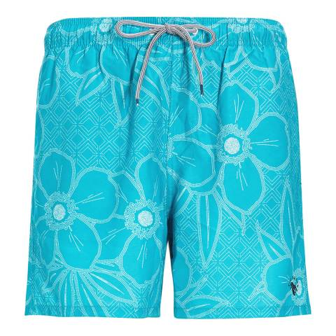Ted Baker Multi Link Linear Floral Swim Short