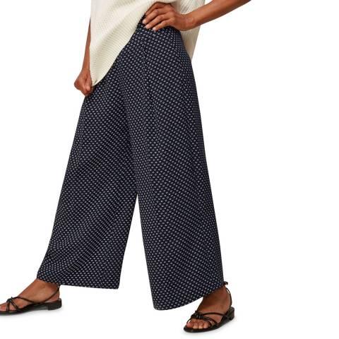 WHISTLES Multi Circle Spot Crepe Trousers