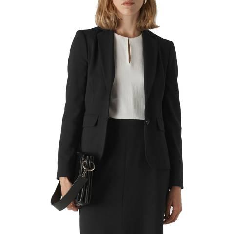 WHISTLES Black Anna Tailored Jacket