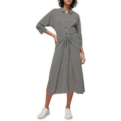 WHISTLES Multi Stripe Selma Tie Dress