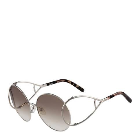 Chloe Women's Silver Sunglasses 60mm