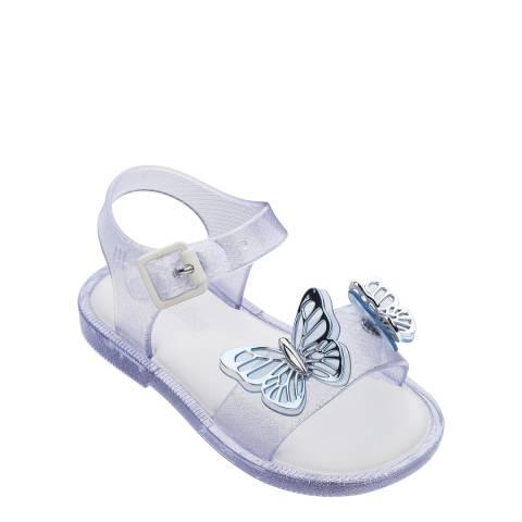 Mini Melissa Mini Mar Sandal Butterfly Clear Glitter