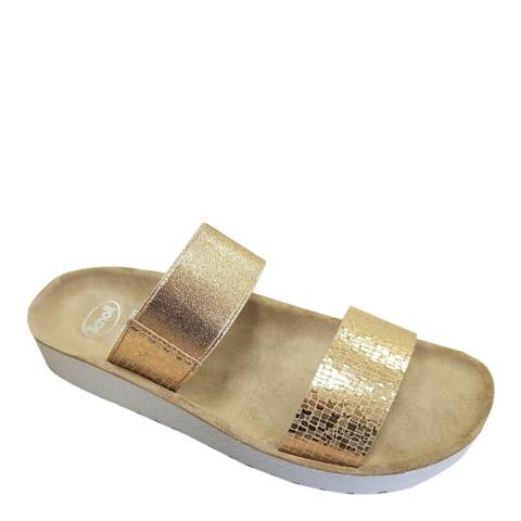 Scholl Gold Gaia Double Strap Footbed