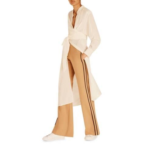 Amanda Wakeley Ecru Air Tie Wrap Top