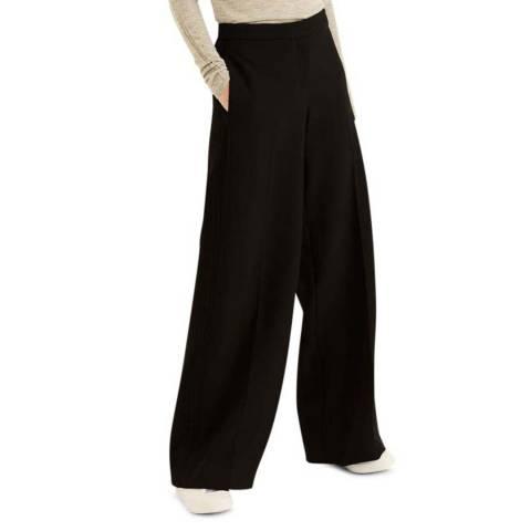 Amanda Wakeley Black Alina Wide Leg Trousers
