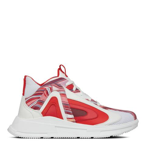 FitFlop Red/White Marble LCF Sneaker