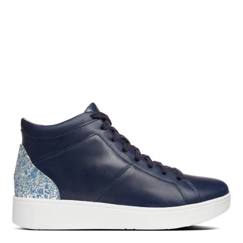 FitFlop Maritime Blue Rally Glitter High-Top Sneakers