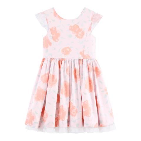 Petit Bateau Kid's Girl's Pink Floral Formal Dress
