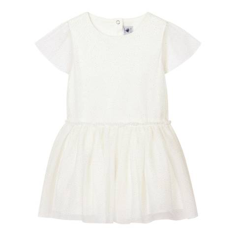 Petit Bateau Kid's Girl's White Tulle Formal Dress