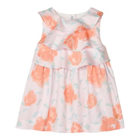 Petit Bateau Baby Girl's Pink Printed Satin Dress