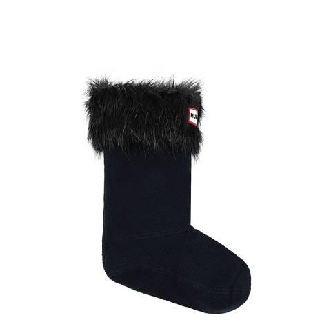 Hunter Black Faux Fur Boot Socks