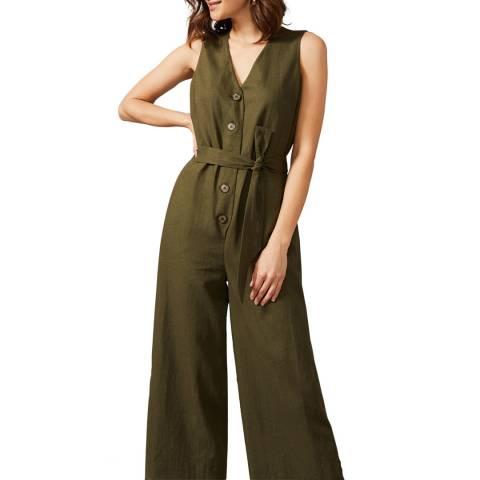 Phase Eight Green Sukhmani Linen Blend Jumpsuit