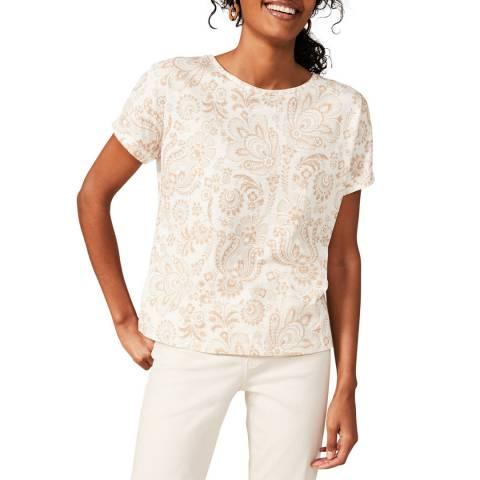 Phase Eight Multi Hasina Paisley Cotton T-Shirt