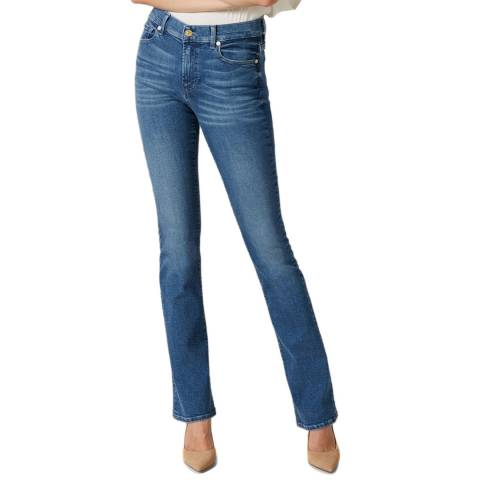 7 For All Mankind Mid Blue Bootcut Slim Evolution Stretch Jeans
