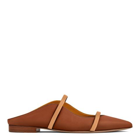Malone Souliers Brown Maureen Flat Leather Pumps